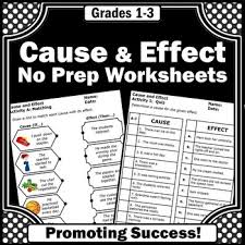 cause and effect activities special education reading strategy
