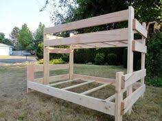 Wood Plans Bunk Bed by Easy Strong Cheap Bunk Bed Diy Wood Projects Pinterest