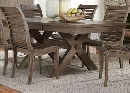 bayside crossing chestnut extendable trestle dining room set from