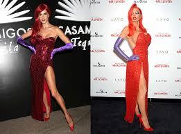 Halloween Costumes Jessica Rabbit Supermodels Alessandra Ambrosio Heidi Klum Battle