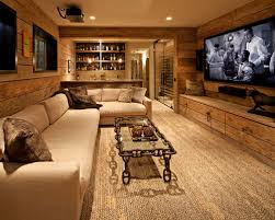 Rustic Basement Ideas Our 50 Best Mid Sized Rustic Basement Ideas Houzz