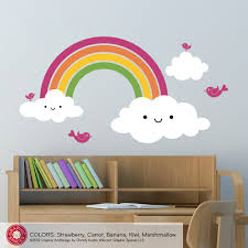 Nursery Happy Rainbow Wall Decal Cute Kids Baby Rainbow Room - Kids rooms decals