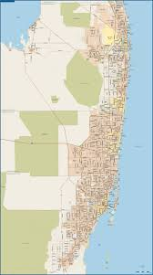 Miami Florida Zip Code Map by Miami To Palm Beach Metro Map Digital Creative Force