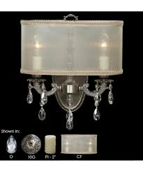 american brass and crystal ws6532 llydia 12 inch wide wall sconce