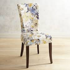 Pier 1 Dining Chair Adelaide Blue U0026 Gold Floral Dining Chair With Espresso Wood Pier