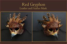 leather mask gryphon leather mask by windfalcon on deviantart
