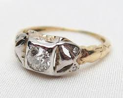deco engagement ring mixed metal diamond engagement ring deco engagement ring