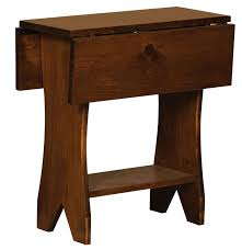 drop leaf end table pine drop leaf end table