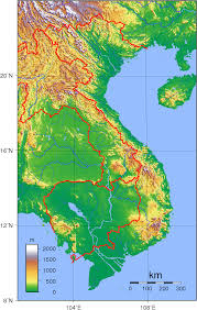 map of vi topographie topography viêt nam wikipédia http fr