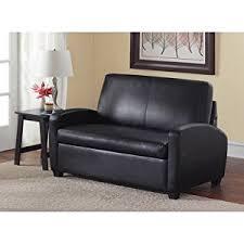 Black Leather Sleeper Sofa Sofa Sleeper Black This Faux Leather Sleeper Sofa