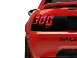 99 04 mustang sequential tail light kit american muscle graphics mustang tail light conversion decal matte