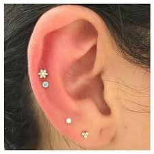 diamond cartilage piercing diamond threaded stud helix helix jewelry