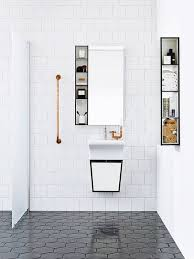 White Tile Bathroom Floor by 39 Stylish Hexagon Tiles Ideas For Bathrooms Digsdigs