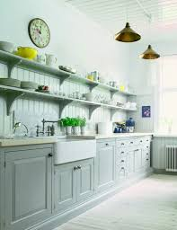 Open Kitchen Shelving Ideas Kitchen Wall Open Shelves White Bowls White Plates Sink Faucet