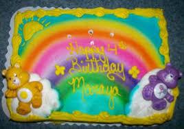 rainbow care bears cake