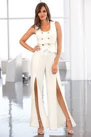 white tuxedo jumpsuit tuxedo front slit jumpsuit boston proper