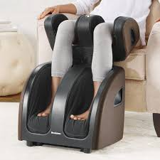 Spa Massage Foot Massager With Comfort Fabric Therasqueeze Pro Foot Calf And Thigh Massager At Brookstone U2014buy Now
