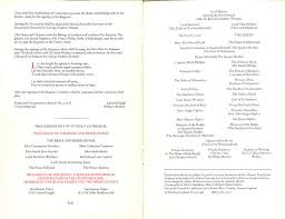 wedding program order photos read the entire royal wedding program from charles and