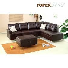 Ottoman Table Air Leather Brown With Cushions Stylish Sofas With Chaise Ottoman