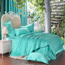 Girls Queen Size Bedding Sets by Bright Turquoise Green Solid Pure Color Western Style Girls 100