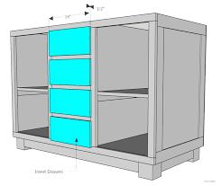 kitchen fascinating diy kitchen island plans step 9 insert