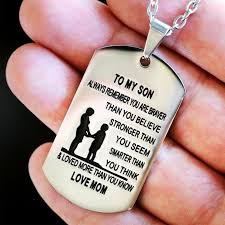 steel dog tag necklace images From mom to son stainless steel dog tag necklace love linen jpg