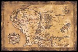 map from lord of the rings the hobbit the lord of the rings map of middle