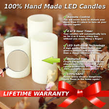 how to get wax out of a candle amazon com genuine wax flameless candle set led candle set of 3