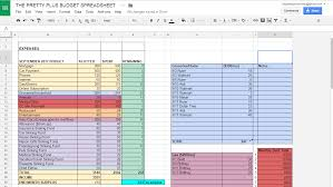 Money Spreadsheet The Pretty Plus The Pretty Plus Budget Spreadsheet Freebie