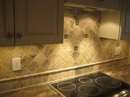 Tumbled Travertine Kitchen Backsplash On Diagonal Home - Natural stone kitchen backsplash
