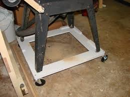 diy table saw stand with wheels table saw outfeed table completed