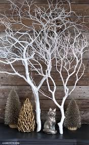 manzanita branch decorating with my white painted manzanita branch
