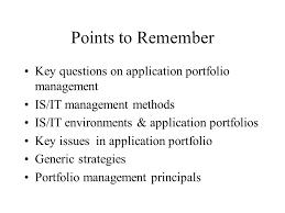 managing the application portfolio ppt video online download