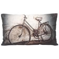 deco urbaine chambre ado bicyclette coussin 30x50 motif vélo déco design rétro vintage
