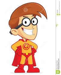 superhero cartoon characters clipart