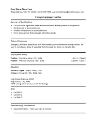 Example Of Resume Skills And Qualifications by Sample Resume With Foreign Language Skills