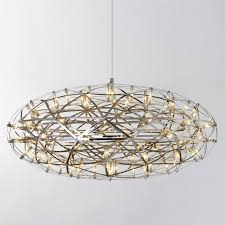 ceiling light flat round stainless steel led pendant lights ls firework flat ball shape