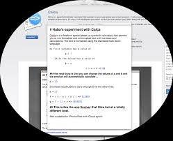 Mac Spreadsheet App Calca U2013 A Must Have Free Form Spreadsheet Symbolic Calculator