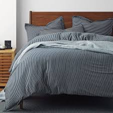 Jersey Cotton Duvet Set Barton Striped Cotton Jersey Duvet Cover The Company Store
