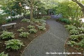 winding gravel garden path