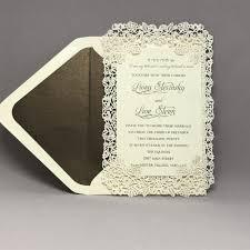 wedding invitations laser cut ivory laser cut roses wedding invitation custom wedding bar