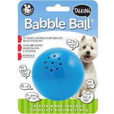 talking babble ball toy for dogs