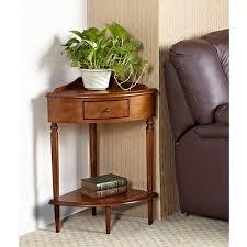 leick corner accent table corner hardwood accent table walmart com