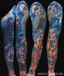 skull arm sleeve dark art u2014 jamie lee parker
