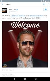 it u0027s official max kellerman has replaced skip bayless on first
