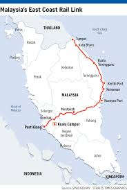 Map Of West Coast States by East Coast Rail Link Malaysia Touts Rail Trade Route As Rival To