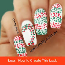 candy cane tutorial u2013 mitty nail art tools u0026 brushes