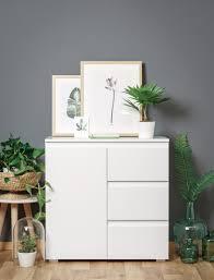 Ordnung Im Wohnzimmerschrank Kommode Imke 2 Weiß 80x80x40 Cm Sideboard Schrank