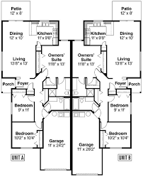 Multi Family Homes Floor Plans 165 Best Multi Family Plans Images On Pinterest House Front