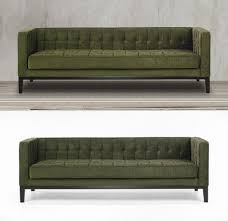 Green Chenille Sofa This Green Tuxedo Sofa Couch Features A Stylish Retro And Modern